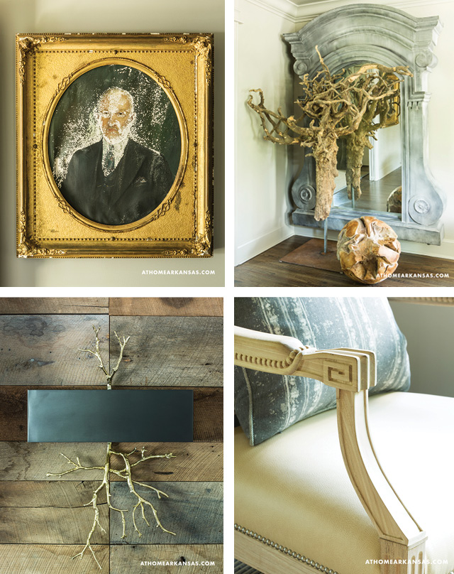 Decor details at Daniel Keeley's stylish abode.