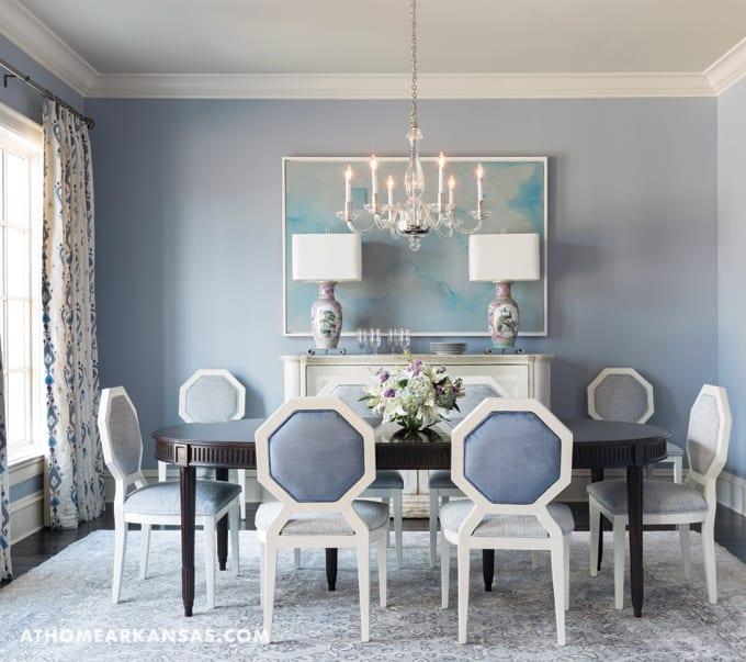Free spirited for Light blue dining room