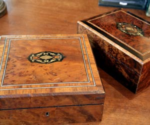 wood inlaid jewelry boxes