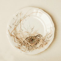 bird place setting from Sologne