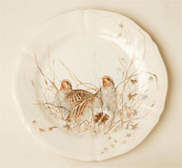 bird plate from Sologne