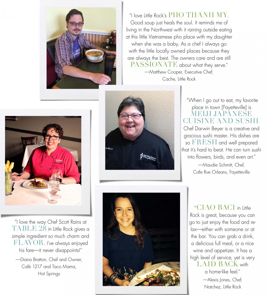 At Home in Arkansas | June 2014 | End Notes: Chefs' Favorite Restaurants