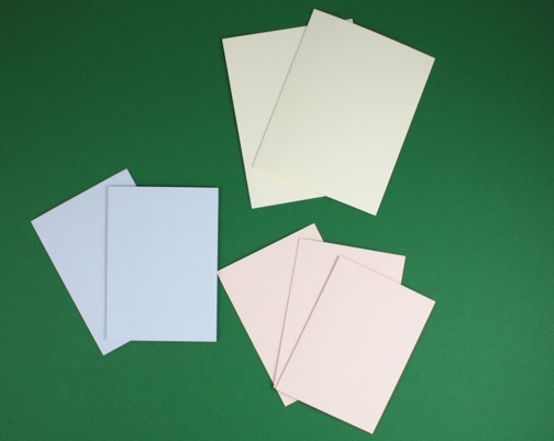 2 folded cards from paper source