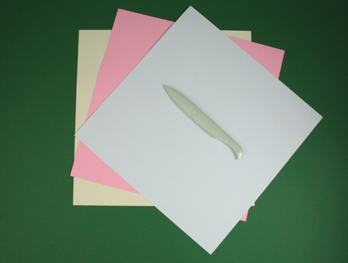 3 cardstock and bone folder