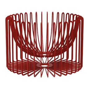 Ikea red wire bowl