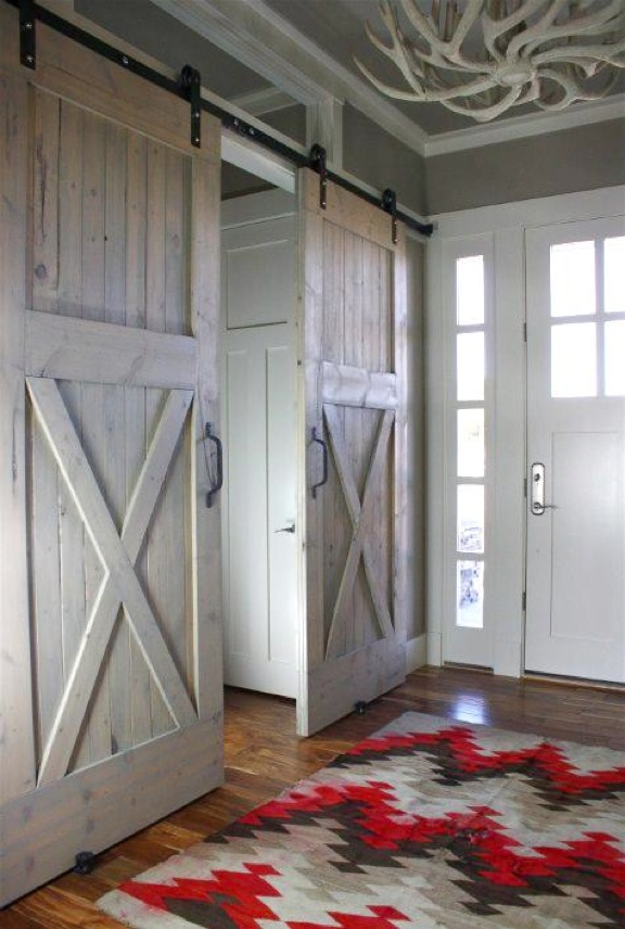 From ... & barn doors vaulted ceilings repurposed pallet shelving Pezcame.Com