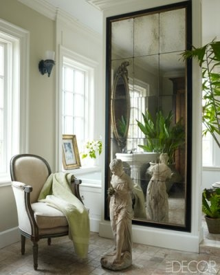 And How About This Huge Mirror Though The Framed Antiqued Mirrored Tiles Are Really Fabulous You Could Add Type Of Mive Scale To Your E