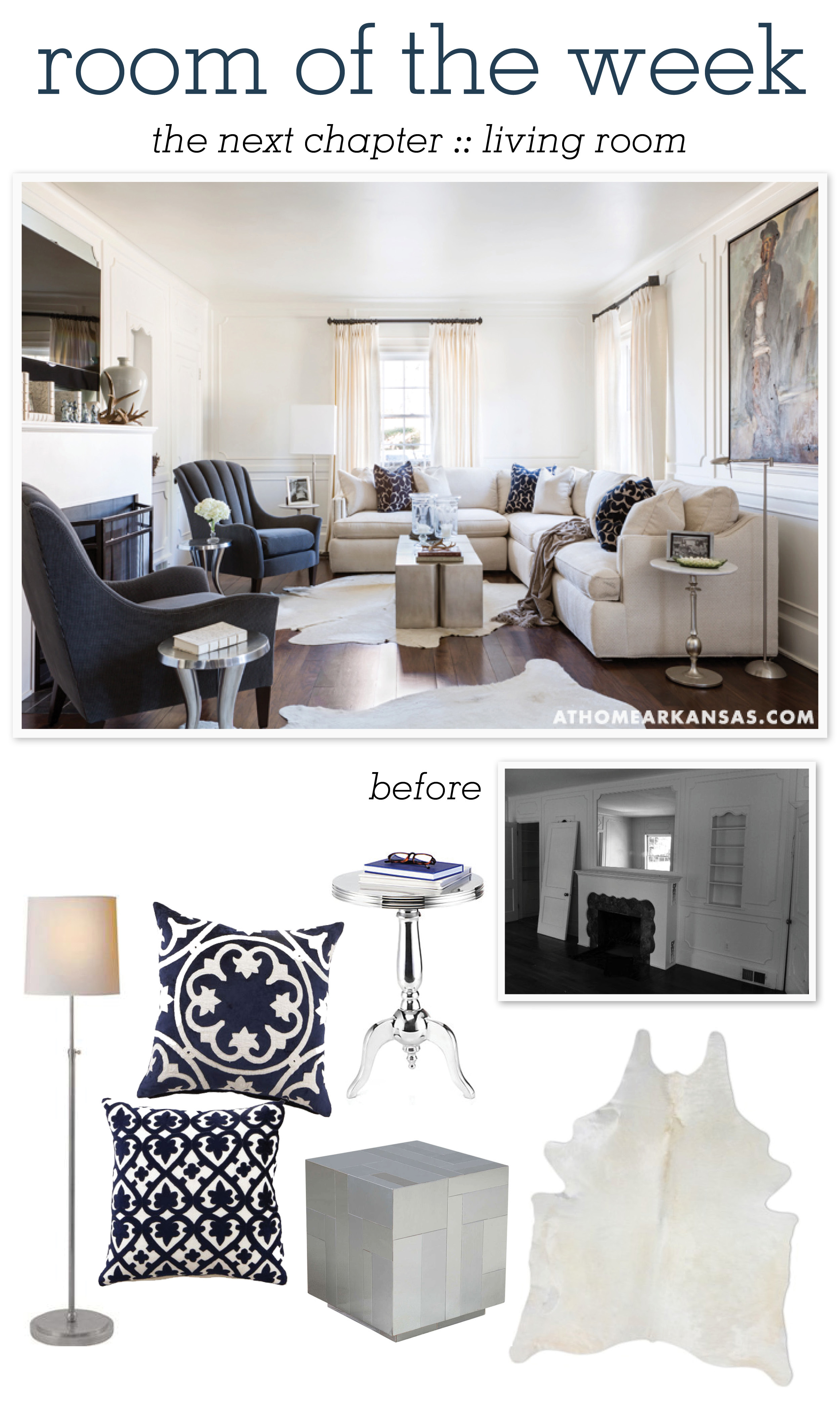 At Home in Arkansas blog | 29 May 2014 | Room of the Week: The Next Chapter, Living Room