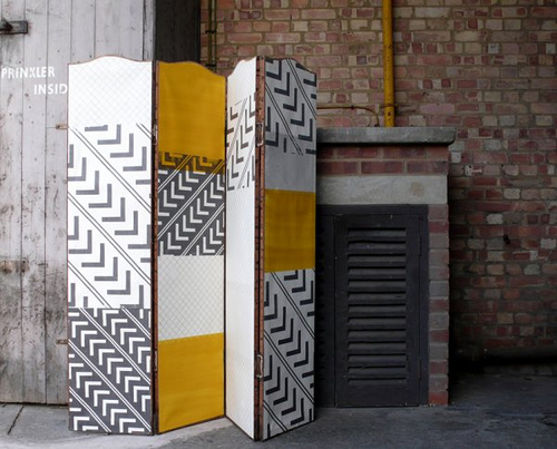 Hand Painted wallpaper by Clara Vuletich on Design Milk