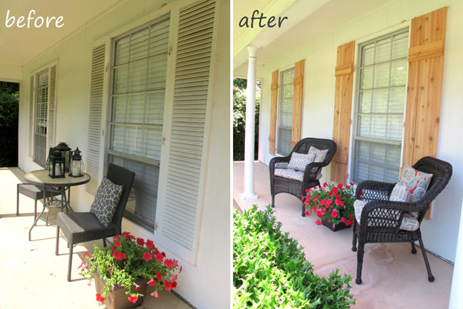 Live The Home Life_Before and After_Cedar Shutters