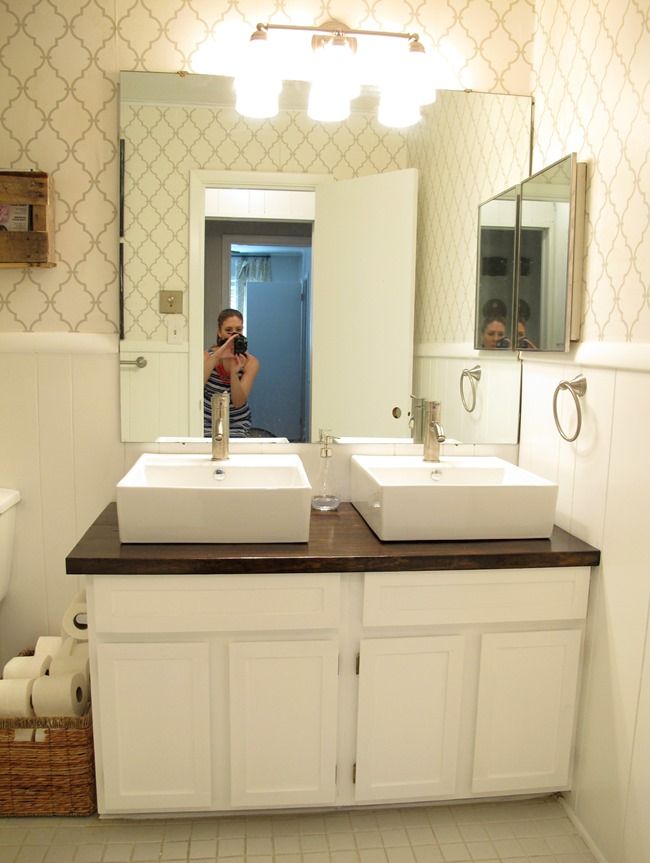 At Home in Arkansas blog | 30 July 2014 | Before & After with Cara Hazlewood: Bathroom Vanity
