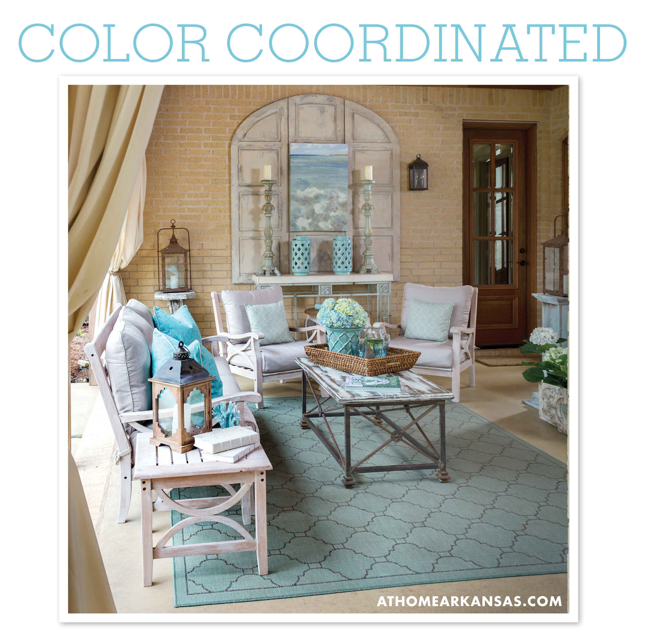 At Home in Arkansas blog | 18 August 2014 | Color Coordinated: Peaceful Blue Patio
