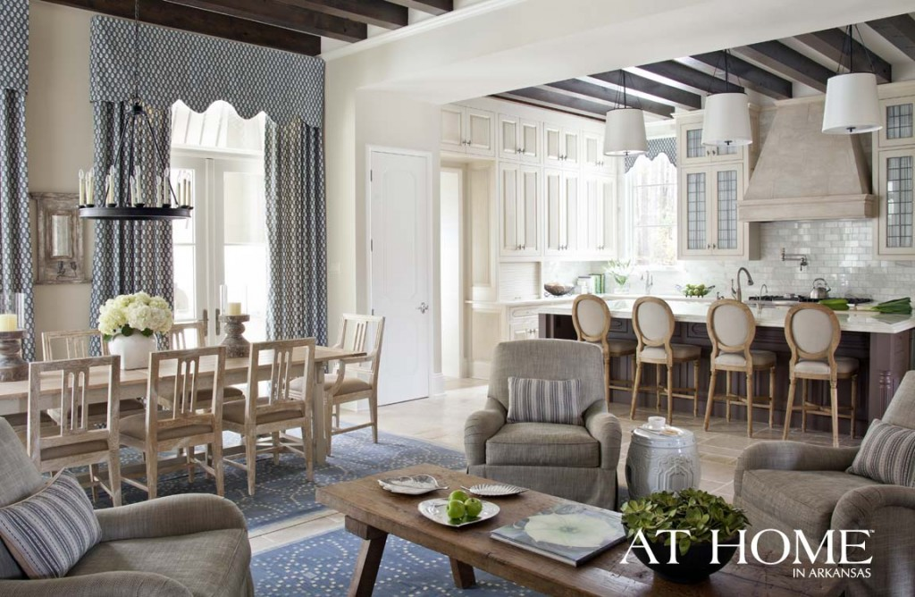 The new traditional at home in arkansas for Keeping room ideas