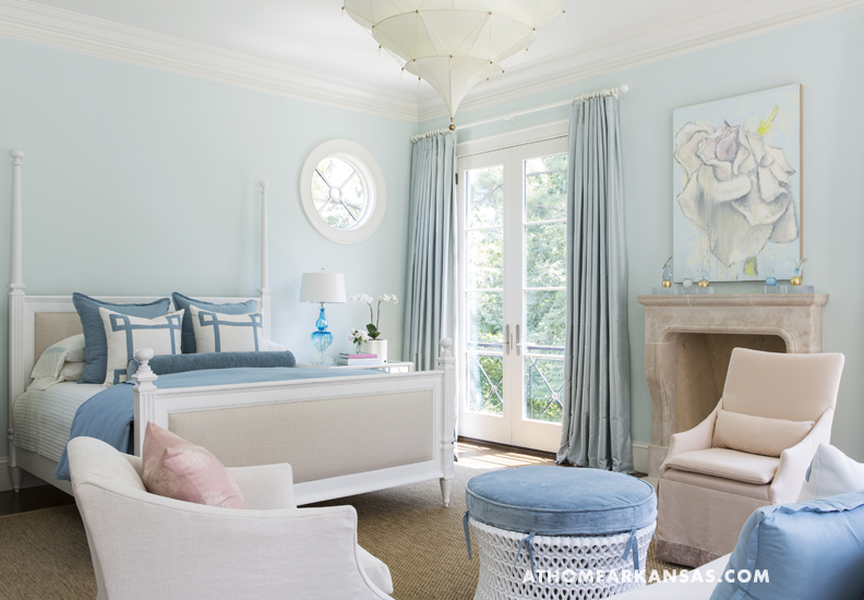 A mix of classic sensibilities and contemporary accessories in Melissa Haynes's Fayetteville home.