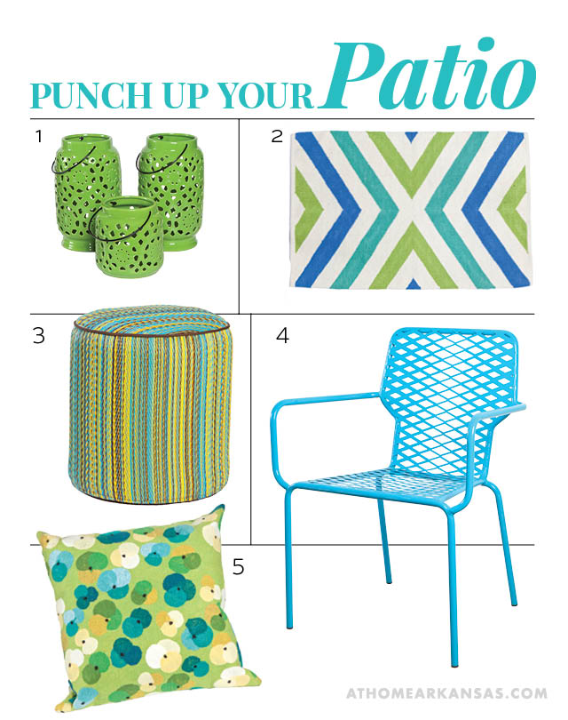 Punch Up Your Patio | At Home in Arkansas | July 2016
