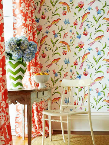 Dana_Gibson_Stroheim_Bird_Wallpaper_Decor from decorators best.com