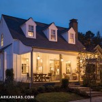 "The residence is based on a Southern Living house plan known as ""Randolph Cottage with Porch Alternate."" Groppetti notes that the front porch is a nod to traditional Southern style as well as an additional seasonal living space that expands the home's modest 2,100 square feet. 