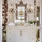 Woodward had the master bath clad in mirrors with an antique finish by West Little Rock Glass. The hardware is by Edgar Berebi. | Historical Influence | At Home in Arkansas | November 2016