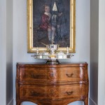 The inlaid chest is an 18th century Dutch piece. The portrait is believed to depict children from the Galloway family.  | Historical Influence | At Home in Arkansas | November 2016