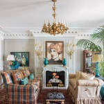 The living room ceiling had to be reinforced to hold the bronze chandelier the Woodwards brought from Edgehill. A striking pair of 18th century porcelain urns sit on 19th century gilt mounts. They, the sconces, and the chandelier all came from a friend and antiques dealer in New York. | Historical Influence | At Home in Arkansas | November 2016
