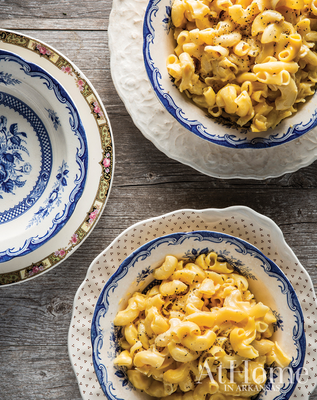 """EUNA MAE'S MACARONI AND CHEESE """"For every holiday or gathering, Euna Mae [Hannon's grandmother and the namesake of her store] made a pan of this macaroni and cheese. I can remember standing right beside her in the kitchen watching her stir the cheese into those giant noodles. It has now become a tradition for all of our family gatherings too,"""" Hannon says."""