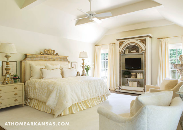 To Cozy Up The Master Bedroom We Painted The Walls Chantilly Lace By  Benjamin Moore. The Rooms Calming Color Scheme Takes Its Cue From The  Vanilla Color On ...