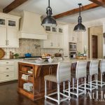 Kitchen in a new-construction home in Alexander, Arkansas, designed by Krista Lewis