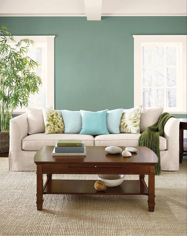 """Choose your paint last. Prior to selecting a paint color, it is important to first select new or consider existing flooring, fabrics, and window treatments. Once these elements are considered, a complementary tone can be selected from the other colors in the room or home's palette."" — Dee Schlotter, Senior Color Marketing Manager at PPG Paints"