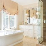 bath renovation, peach interiors