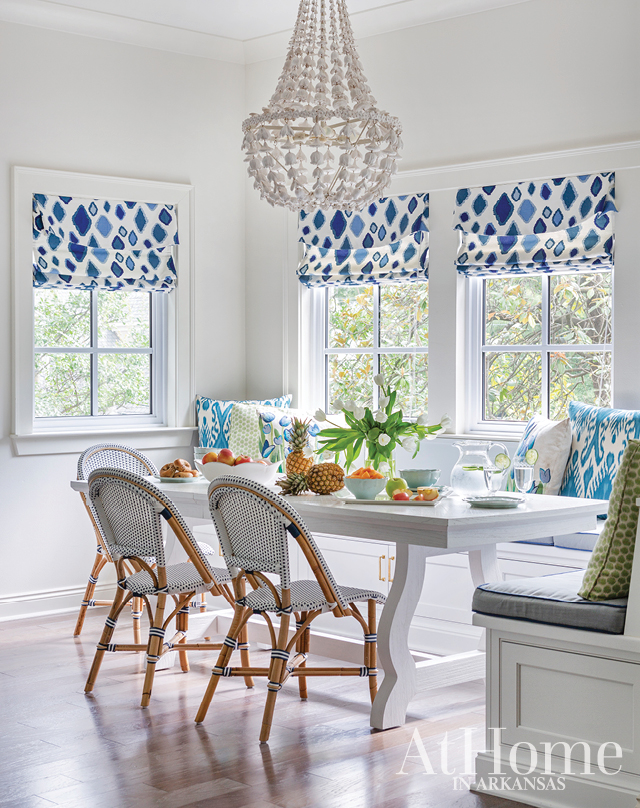 Classic blue and white Southern kitchen by designer Chandler Bailey